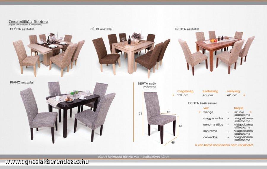 Berta étkező, Asztal, Szék, Étkezőasztal, Tapolca
